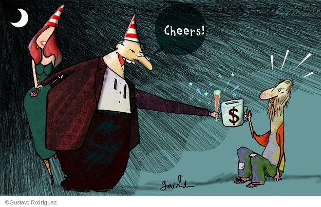 Gustavo Rodriguez  Garrincha's Editorial Cartoons 2013-12-25 cheer
