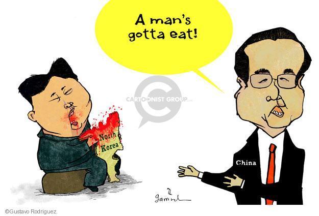 Cartoonist Gustavo Rodriguez  Garrincha's Editorial Cartoons 2014-02-18 China human rights