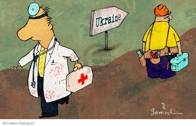 Gustavo Rodriguez  Garrincha's Editorial Cartoons 2014-02-23 violence