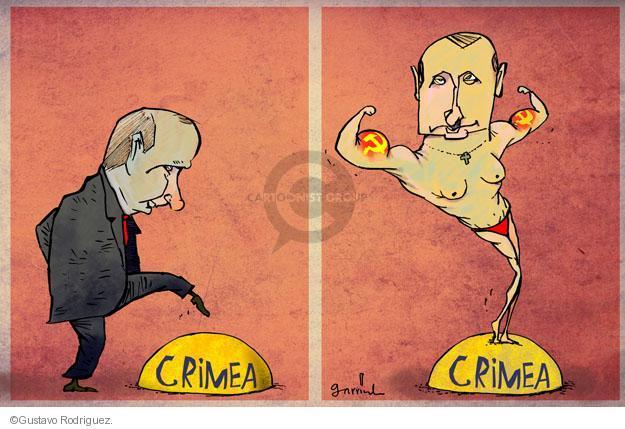 Gustavo Rodriguez  Garrincha's Editorial Cartoons 2014-03-19 military