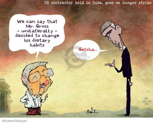 Gustavo Rodriguez  Garrincha's Editorial Cartoons 2014-04-08 Raul Castro