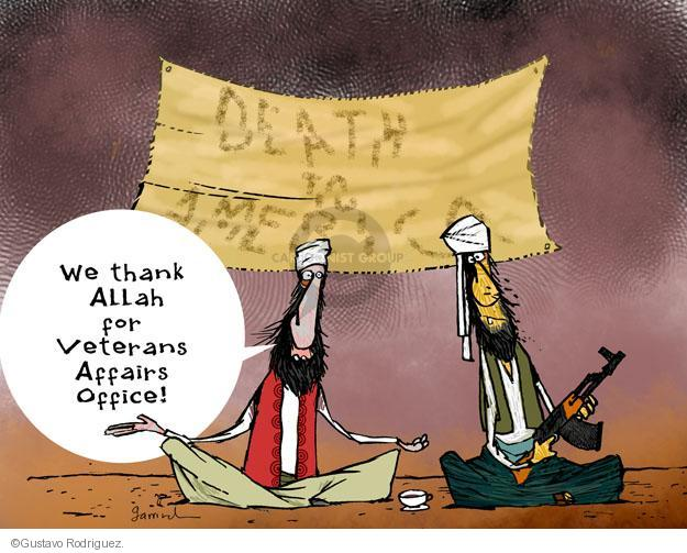 Death to America. We thank Allah for Veterans Affairs Office!