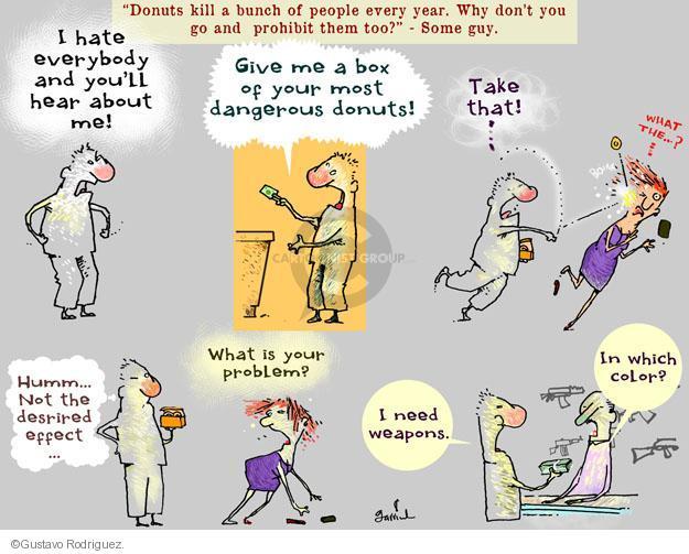 Gustavo Rodriguez  Garrincha's Editorial Cartoons 2014-05-29 gun violence