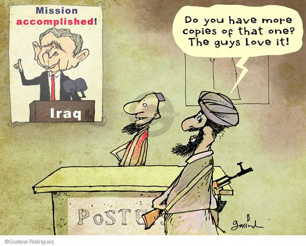 Cartoonist Gustavo Rodriguez  Garrincha's Editorial Cartoons 2014-06-13 Bush administration