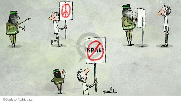 Gustavo Rodriguez  Garrincha's Editorial Cartoons 2014-07-09 peace