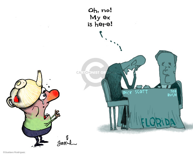 Cartoonist Gustavo Rodriguez  Garrincha's Editorial Cartoons 2014-09-19 Florida