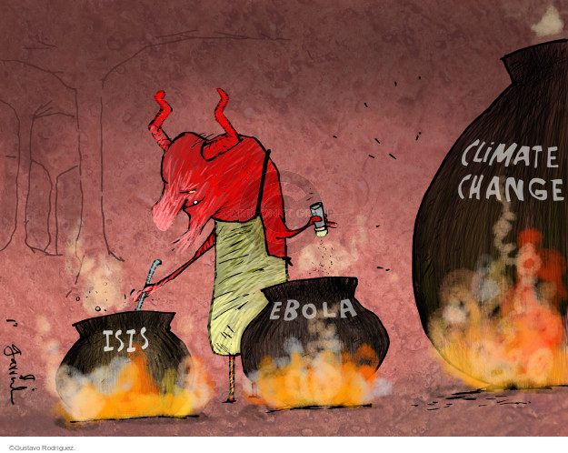 Cartoonist Gustavo Rodriguez  Garrincha's Editorial Cartoons 2014-09-23 health