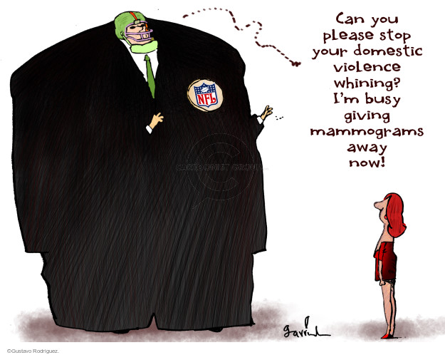 Gustavo Rodriguez  Garrincha's Editorial Cartoons 2014-10-07 violence
