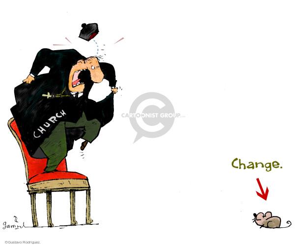 Gustavo Rodriguez  Garrincha's Editorial Cartoons 2014-10-20 church