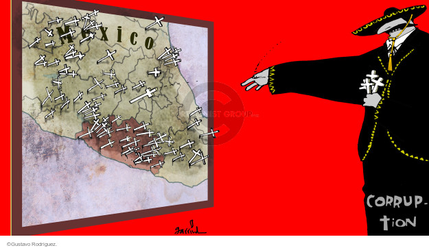 Gustavo Rodriguez  Garrincha's Editorial Cartoons 2014-10-27 police
