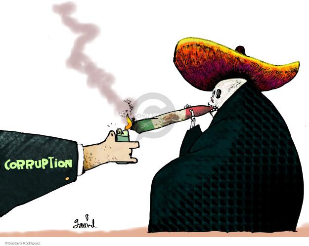 Gustavo Rodriguez  Garrincha's Editorial Cartoons 2014-11-11 corrupt