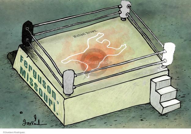 Gustavo Rodriguez  Garrincha's Editorial Cartoons 2014-11-25 law enforcement