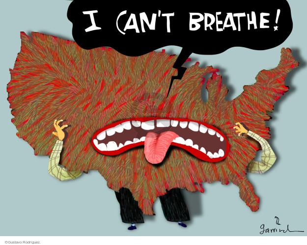 Gustavo Rodriguez  Garrincha's Editorial Cartoons 2014-12-04 law enforcement