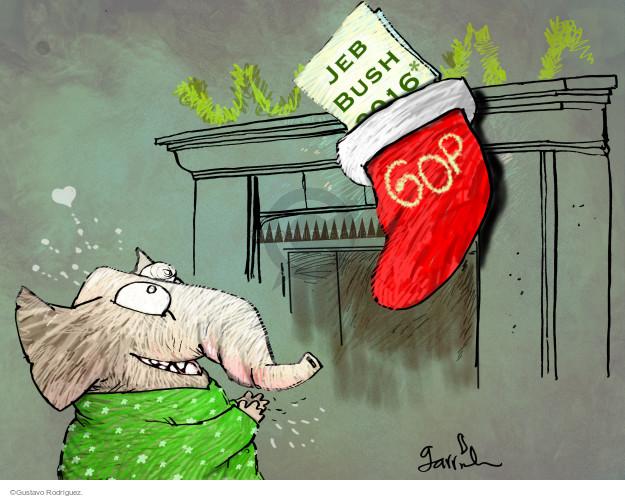 Gustavo Rodriguez  Garrincha's Editorial Cartoons 2014-12-16 2016 election Jeb Bush