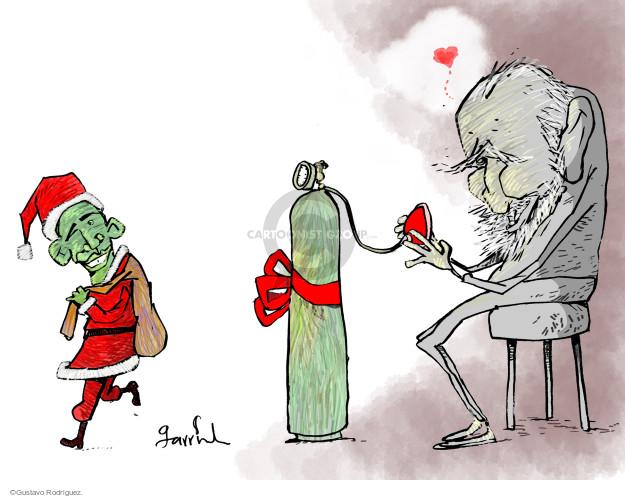 Gustavo Rodriguez  Garrincha's Editorial Cartoons 2014-12-17 Fidel Castro