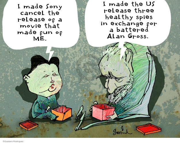 Gustavo Rodriguez  Garrincha's Editorial Cartoons 2014-12-19 Fidel Castro