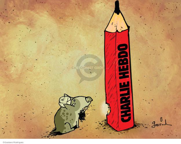Gustavo Rodriguez  Garrincha's Editorial Cartoons 2015-01-07 freedom of expression