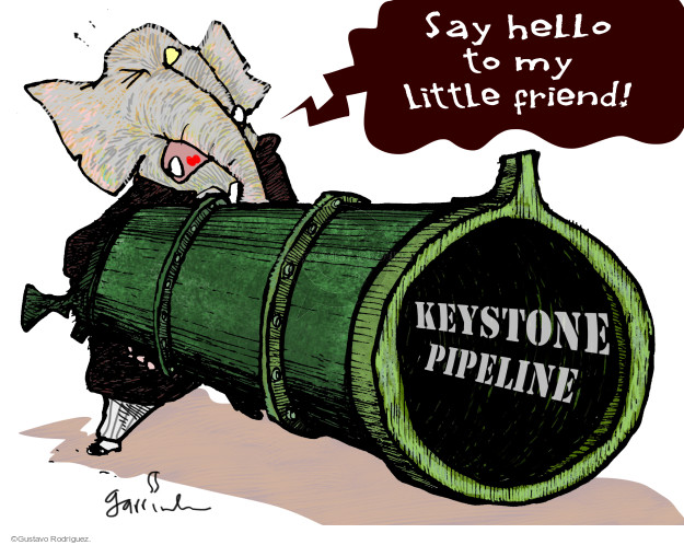 Cartoonist Gustavo Rodriguez  Garrincha's Editorial Cartoons 2015-01-15 conservative
