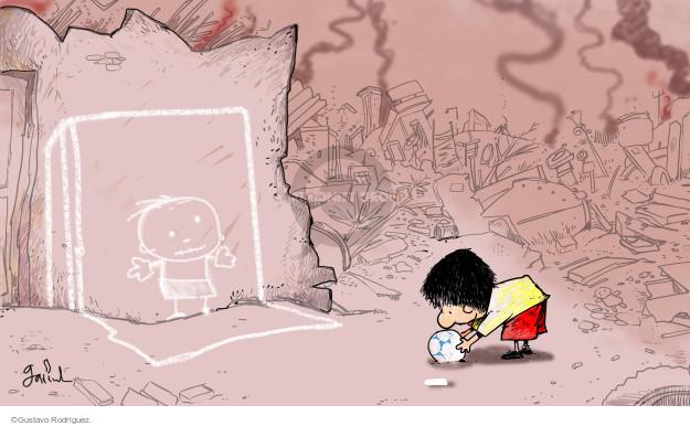 Gustavo Rodriguez  Garrincha's Editorial Cartoons 2015-04-15 destruction
