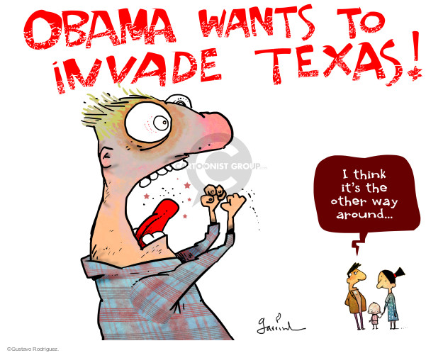 Cartoonist Gustavo Rodriguez  Garrincha's Editorial Cartoons 2015-05-07 Texas