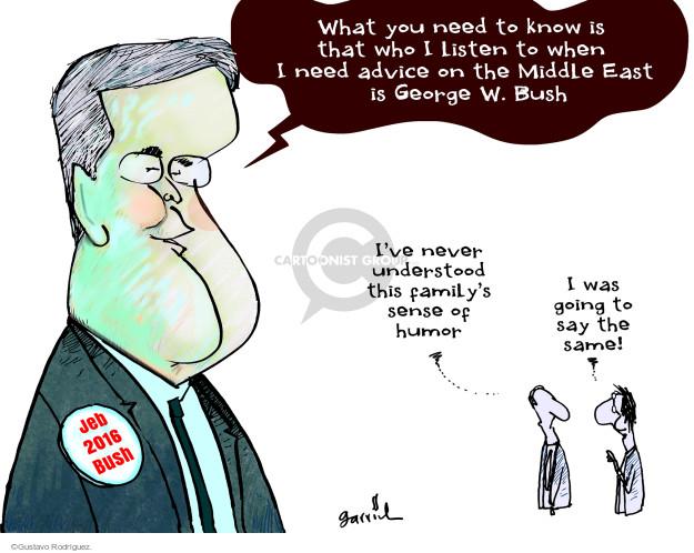 Gustavo Rodriguez  Garrincha's Editorial Cartoons 2015-05-08 2016 election Jeb Bush
