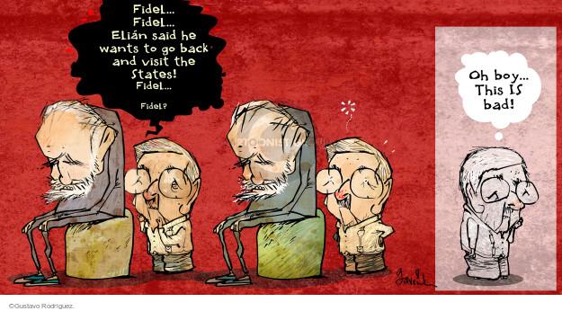 Gustavo Rodriguez  Garrincha's Editorial Cartoons 2015-05-19 Fidel Castro