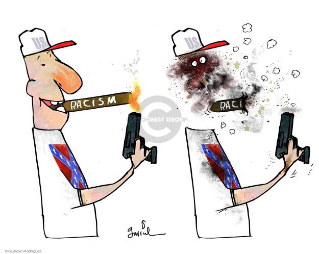 Gustavo Rodriguez  Garrincha's Editorial Cartoons 2015-06-23 racism