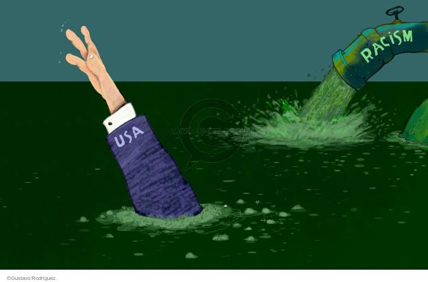 Gustavo Rodriguez  Garrincha's Editorial Cartoons 2015-06-24 racism
