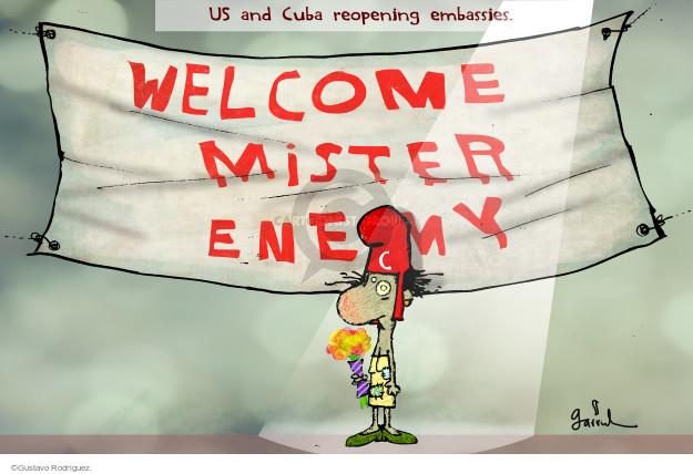 Gustavo Rodriguez  Garrincha's Editorial Cartoons 2015-07-19 diplomacy