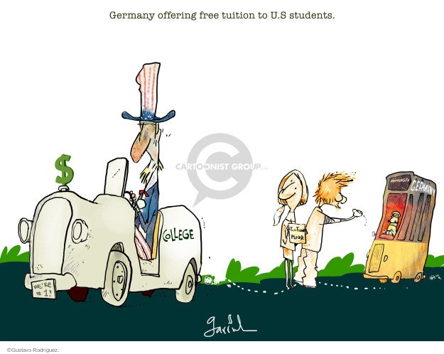 Gustavo Rodriguez  Garrincha's Editorial Cartoons 2015-08-11 college education