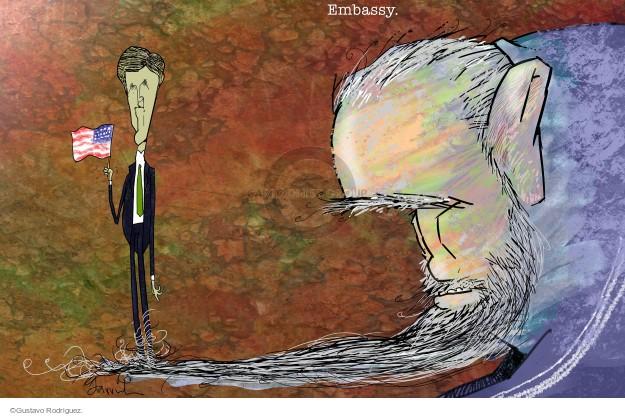 Gustavo Rodriguez  Garrincha's Editorial Cartoons 2015-08-19 Secretary of State