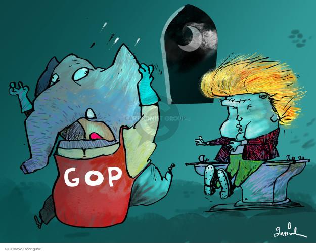 Cartoonist Gustavo Rodriguez  Garrincha's Editorial Cartoons 2015-08-28 conservative