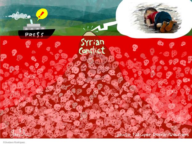 Gustavo Rodriguez  Garrincha's Editorial Cartoons 2015-09-03 violent