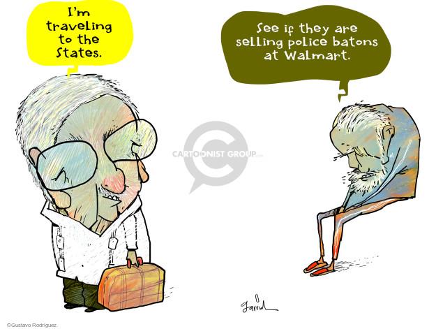 Gustavo Rodriguez  Garrincha's Editorial Cartoons 2015-09-17 police
