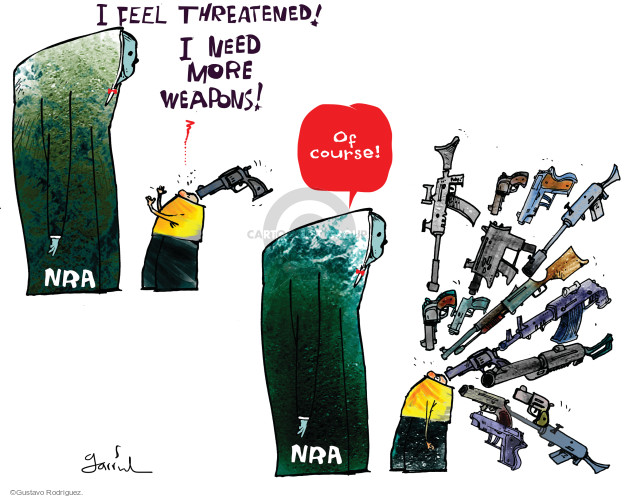 Gustavo Rodriguez  Garrincha's Editorial Cartoons 2014-10-04 weapon
