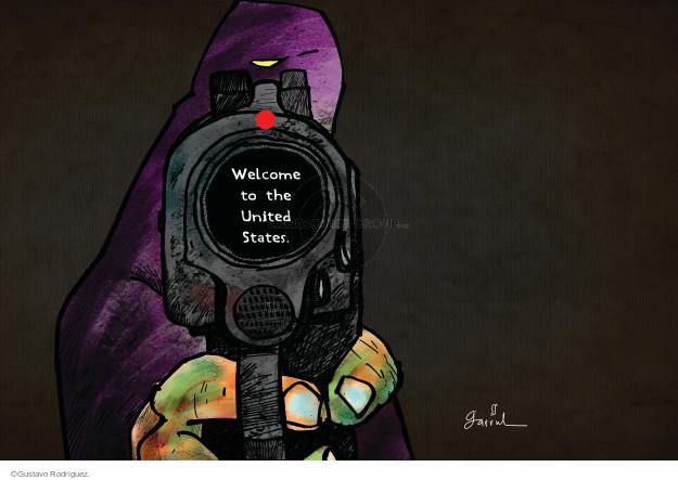 Cartoonist Gustavo Rodriguez  Garrincha's Editorial Cartoons 2015-10-05 violence
