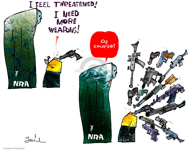 Gustavo Rodriguez  Garrincha's Editorial Cartoons 2015-10-08 weapon