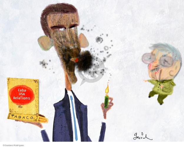 Gustavo Rodriguez  Garrincha's Editorial Cartoons 2016-01-22 Raul Castro