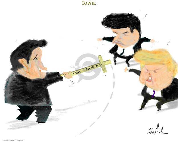 Gustavo Rodriguez  Garrincha's Editorial Cartoons 2016-02-03 political party