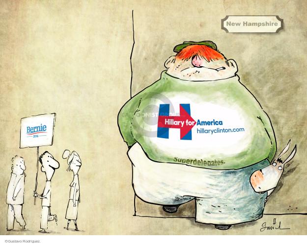 Gustavo Rodriguez  Garrincha's Editorial Cartoons 2016-02-11 2016 Election Hillary Clinton