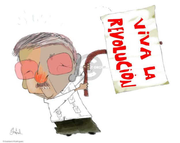 Gustavo Rodriguez  Garrincha's Editorial Cartoons 2016-03-18 Raul Castro