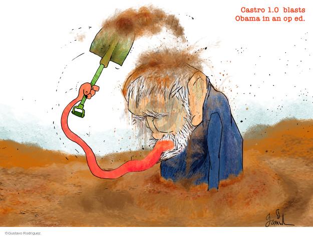 Cartoonist Gustavo Rodriguez  Garrincha's Editorial Cartoons 2016-03-29 Barack Obama