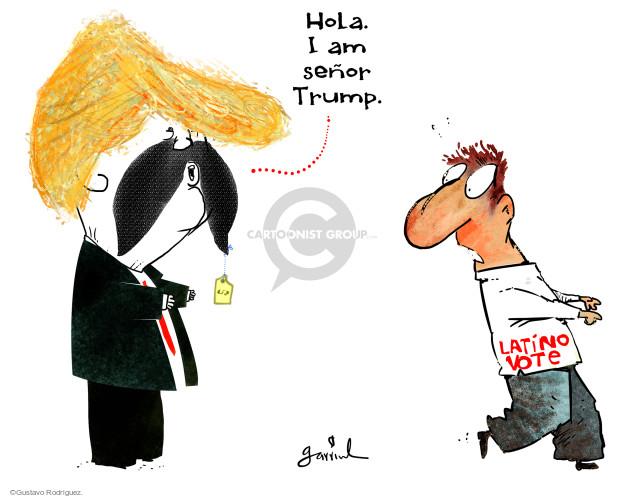 Gustavo Rodriguez  Garrincha's Editorial Cartoons 2016-09-01 2016 Election Donald Trump