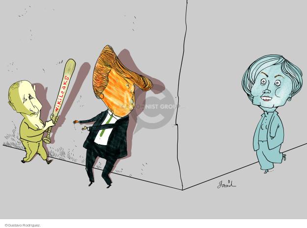 Gustavo Rodriguez  Garrincha's Editorial Cartoons 2016-10-20 2016 Election Donald Trump