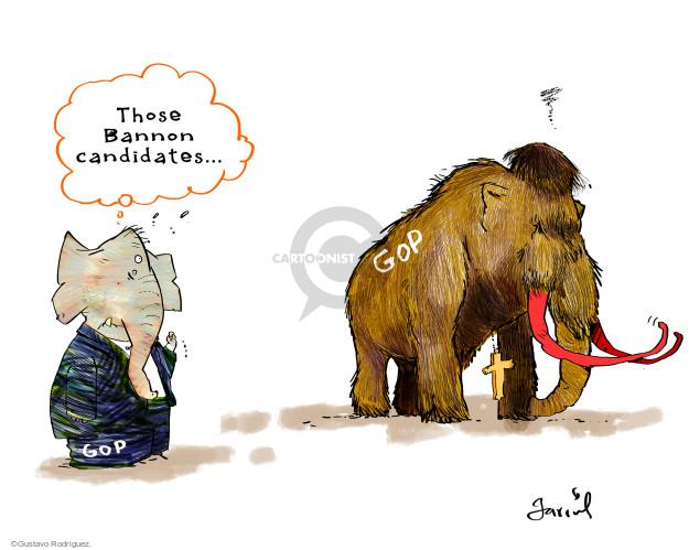 Gustavo Rodriguez  Garrincha's Editorial Cartoons 2017-11-10 political party