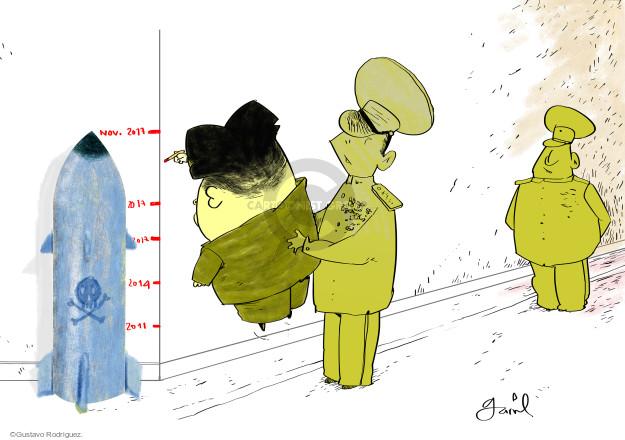 Gustavo Rodriguez  Garrincha's Editorial Cartoons 2017-11-30 international relations