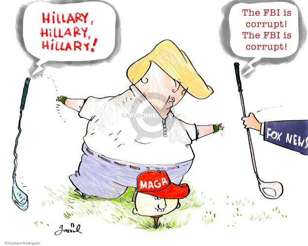 Hillary, Hillary, Hillary! The FBI is corrupt! The FBI is corrupt! Fox News. MAGA.