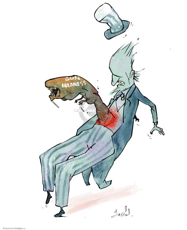 Cartoonist Gustavo Rodriguez  Garrincha's Editorial Cartoons 2018-02-15 gun violence