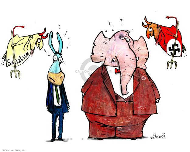 Gustavo Rodriguez  Garrincha's Editorial Cartoons 2018-08-15 political party