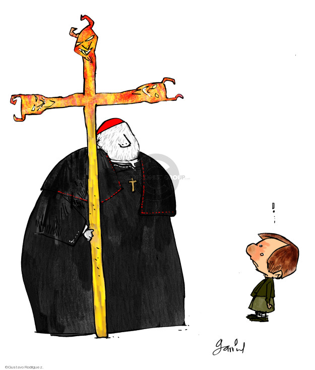 Gustavo Rodriguez  Garrincha's Editorial Cartoons 2018-08-16 church